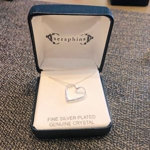 SERAPHINA Silver Plated Heart Necklace.